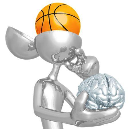 mind game: Basketball Mind Stock Photo