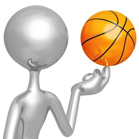 spinning: Spinning Basketball