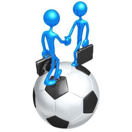 Soccer Football Business Stock Photo - 4356044