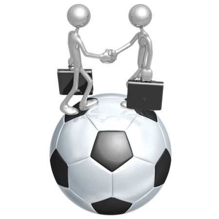 business meeting: Soccer Football Business