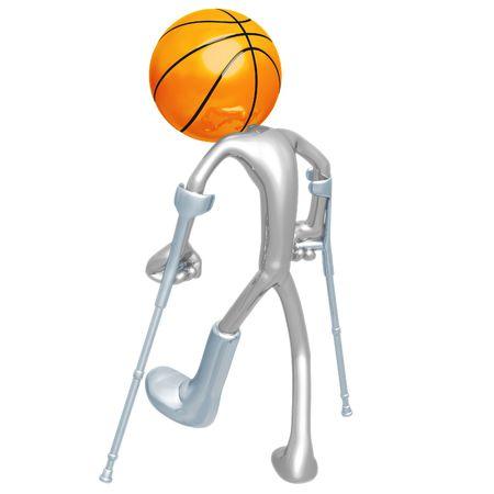 Injured Basketball Player photo