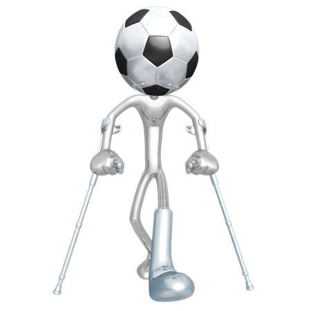 Injured Soccer Football Player photo