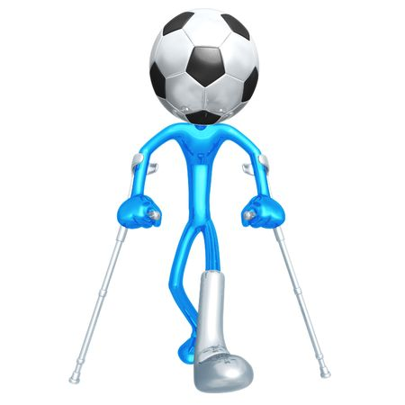 Injured Soccer Football Player photo
