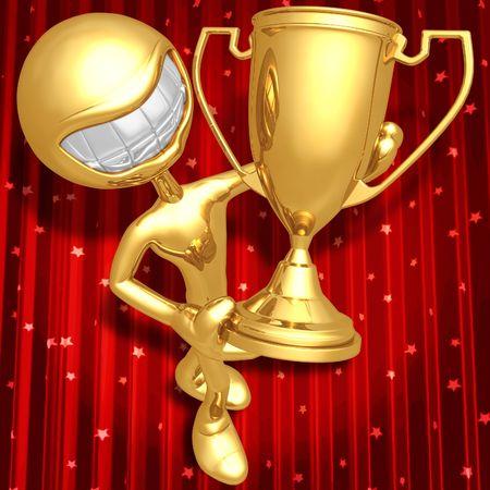 emote: Trophy Award Ceremony Stock Photo