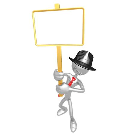 Businessman With Picket Sign photo