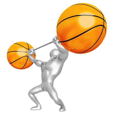 Basketball Weight Training Stock Photo