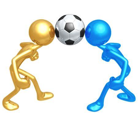 dueling: Soccer Football Dueling Header