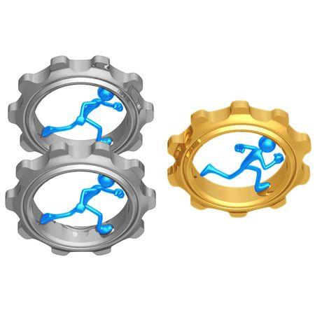 Gear Runner Race Stock Photo - 4364880