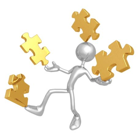 art piece: Balancing Puzzle Pieces