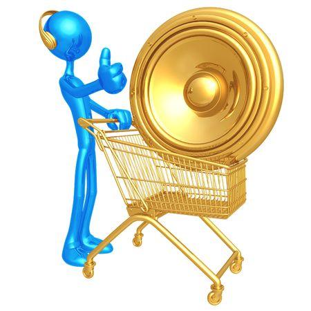 Music Shopping Stock Photo - 4365174