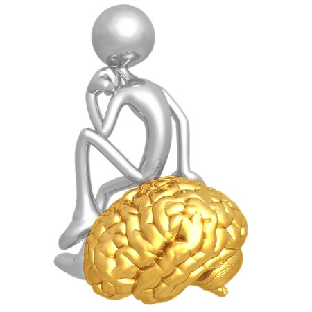 man meditating: On Your Mind Thinker