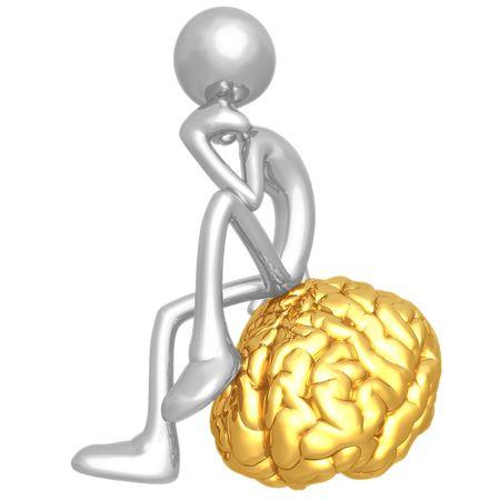 denker: Op uw denker Mind Stockfoto