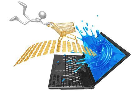 Extreme Online Shopping Stock Photo - 4365199