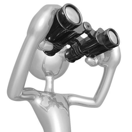 Looking Through Binoculars photo