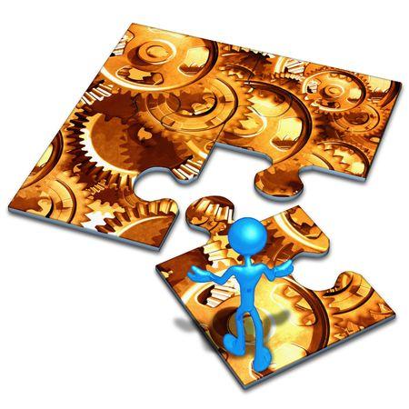 art piece: Gears Concept Puzzle