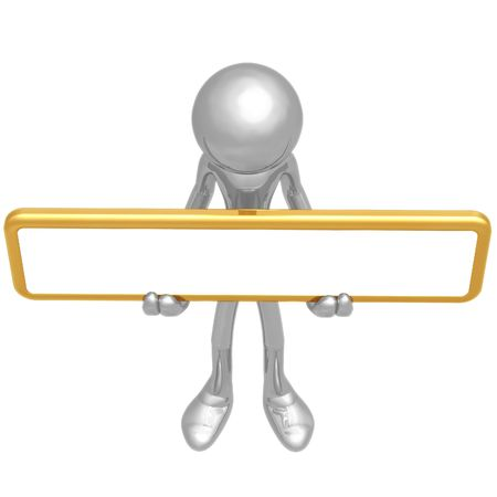 Holding Blank Sign Stock Photo - 4379908