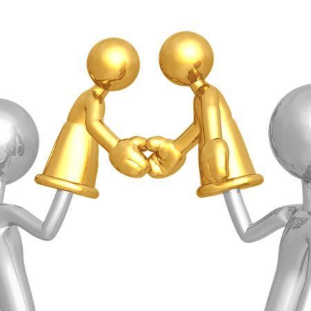 proxy: Handshake Hand Puppet