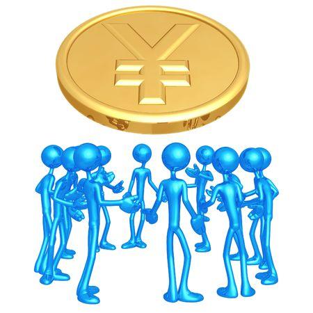 yen: Yen Forum Stock Photo