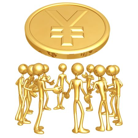 yen: Yen Forum Stock Photo
