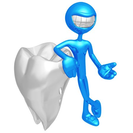 Smiling Tooth Presenter Stock Photo