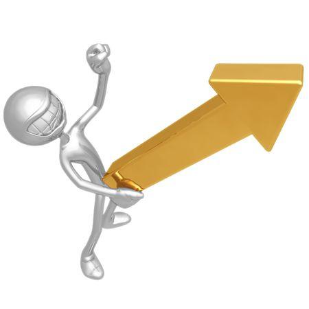 Solid Gold Upward Market Arrow photo