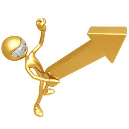 erection: Solid Gold Upward Market Arrow