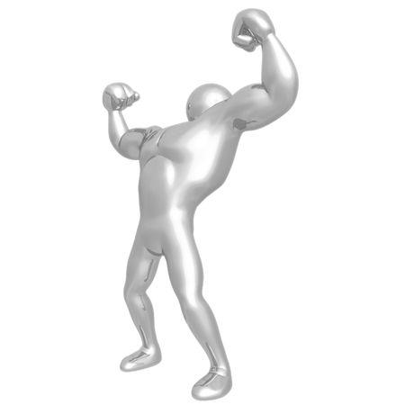 hombre fuerte: Strong Man Body Builder Foto de archivo