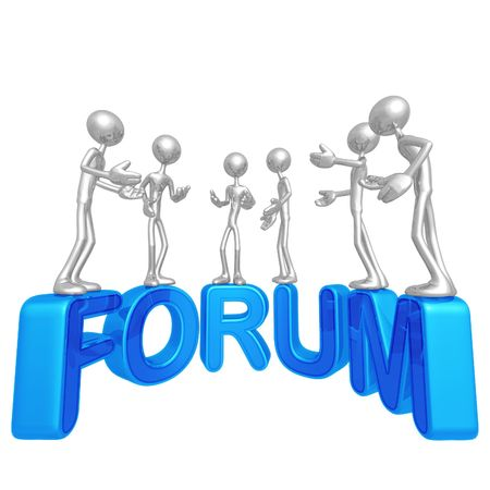 conferencing: Forum Stock Photo