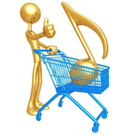 Music Shopping Cart photo