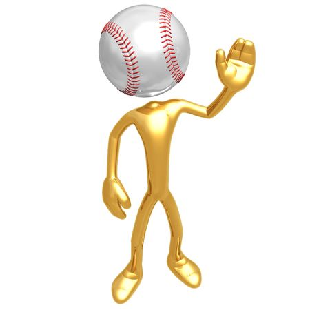 hardball: Baseball Waving Hello Stock Photo