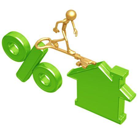 Golden Key Bridge Between Green Percentage And Home