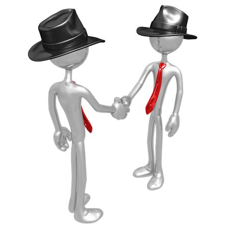 company merger: Businessmen Shaking Hands Stock Photo