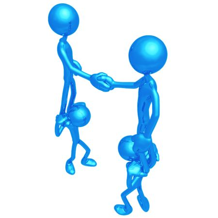 proxy: Proxy Handshake Stock Photo