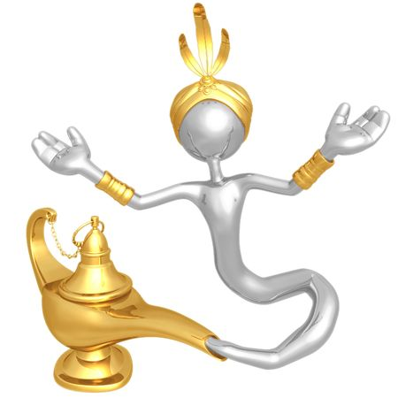jinni: Djinn Escaping Magic Lamp