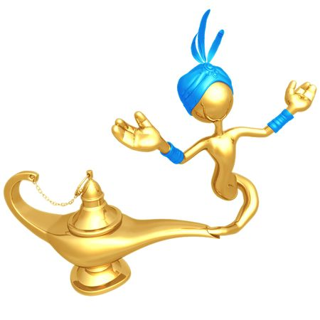escaping: Djinn Escaping Magic Lamp