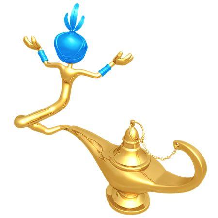 lampe magique: Djinn �chapper lampe magique