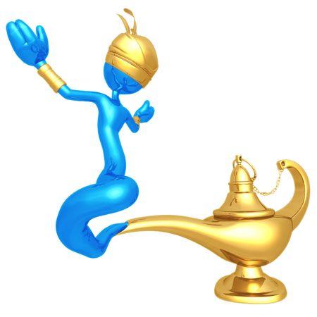 jinn: Djinn Escaping Magic Lamp