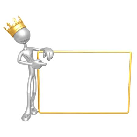 golden crown: King With Blank Sign