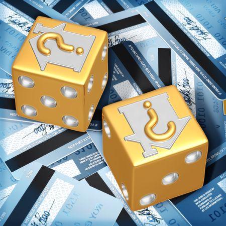subprime: Realty Risk Dice Stock Photo