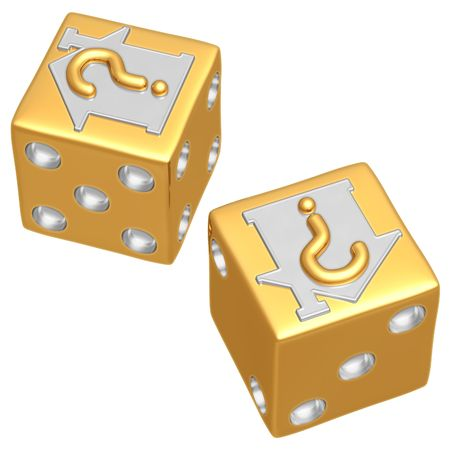 housing crisis: Realty Risk Dice Stock Photo