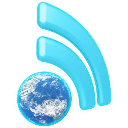 aggregator: RSS World News Feed Stock Photo