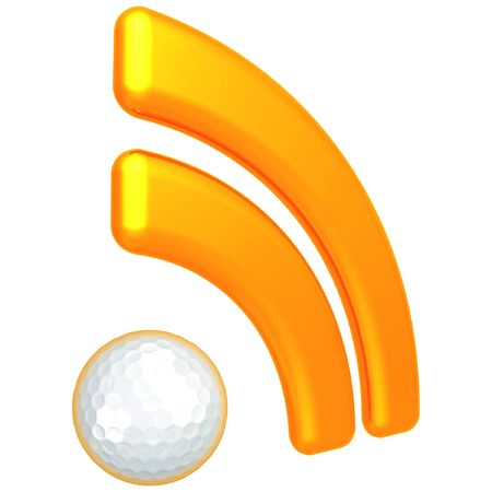 RSS Golfing Feed Stock Photo