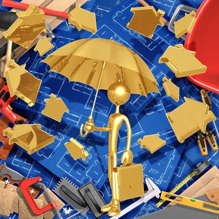 subprime: Raining Homes Stock Photo