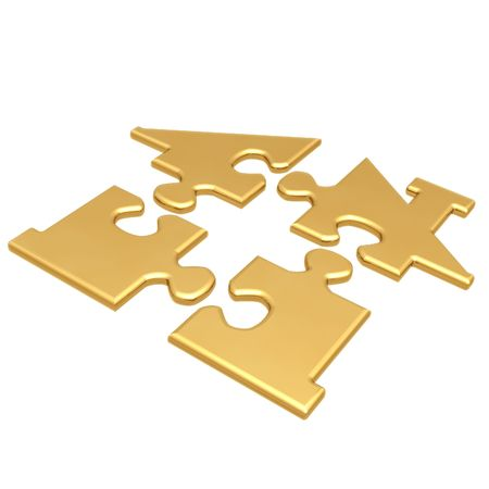 real estate investment:  Realty Puzzle Stock Photo