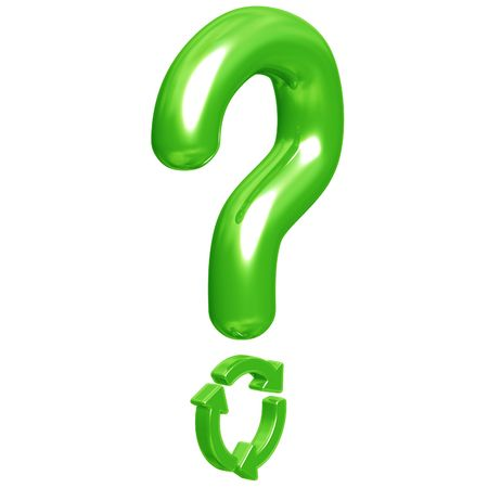recycling: Question Mark Recycling Stock Photo