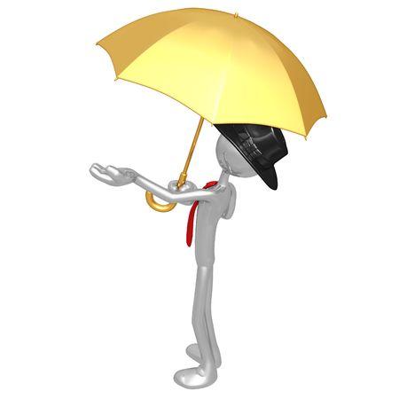 Businessman With Umbrella photo