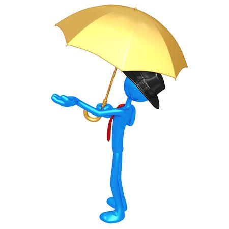 gamp: Businessman With Umbrella