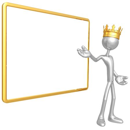 King With Blank Sign photo
