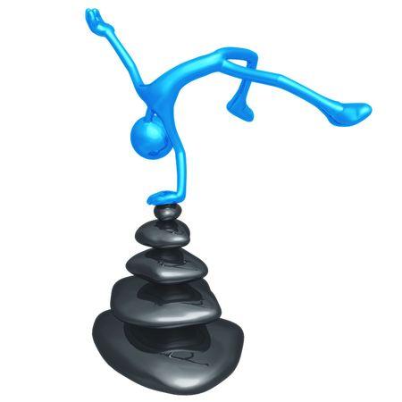 physio: Harmony Balance Stones Stock Photo