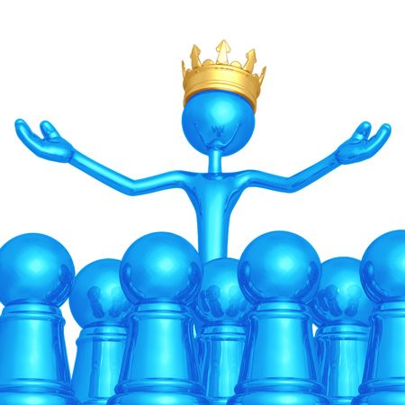 supreme: King Among Pawns Stock Photo